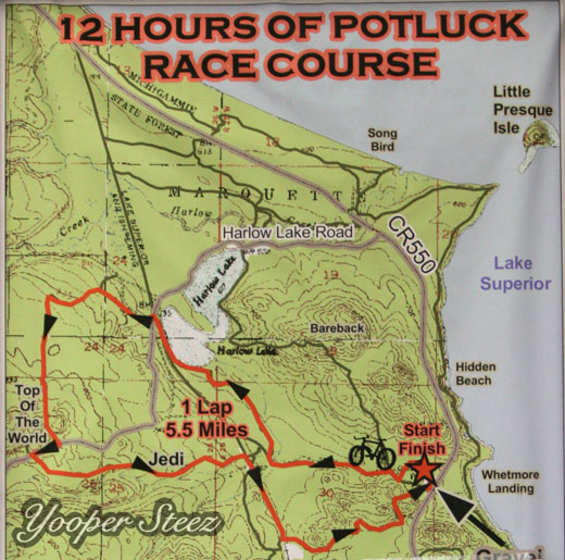 Mountain Bike Race Course Map