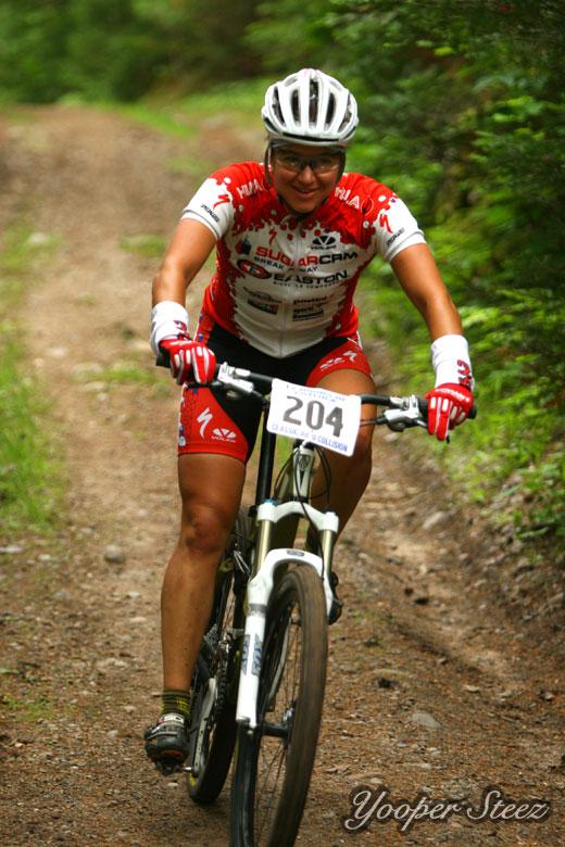 Mountain Biker in Marquette