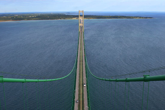 Mackinac Bridge Lanes