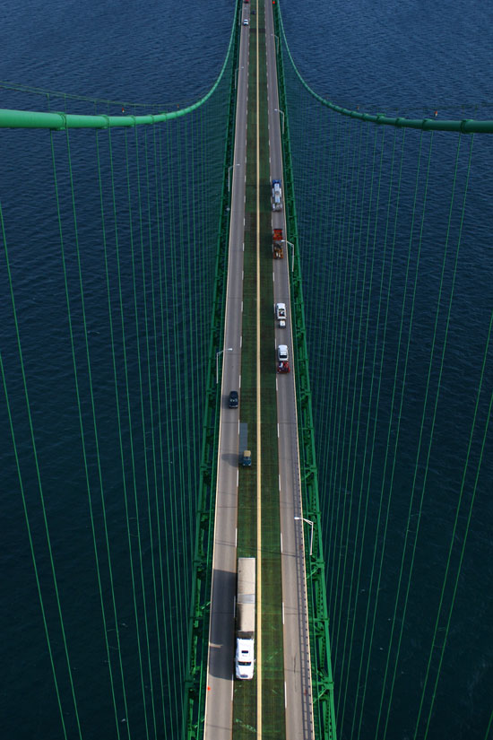 Mackinac Bridge Lanes