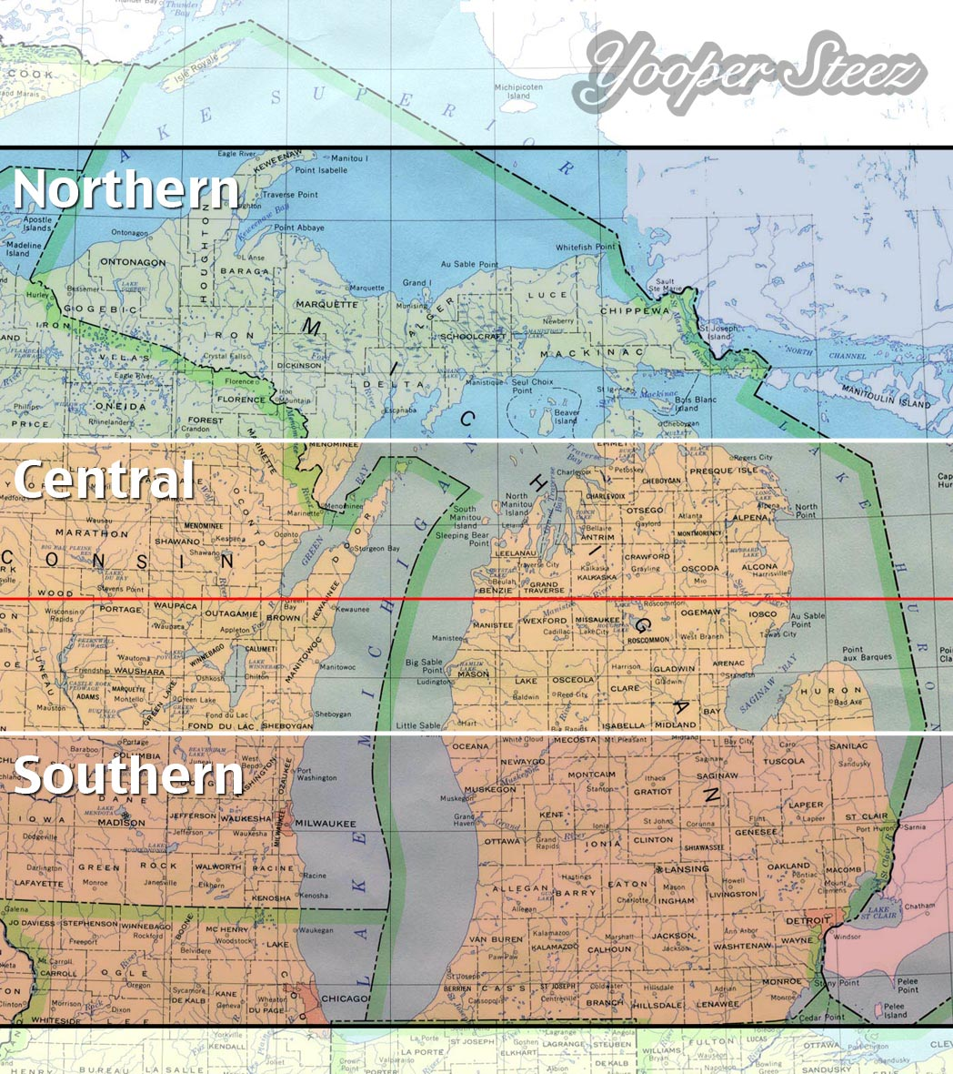 What Actually Determines Northern Michigan - Map of lower michigan