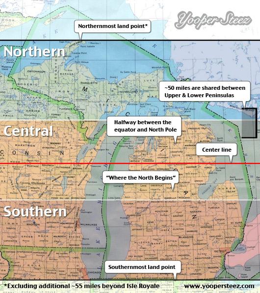Map of Northern Michigan