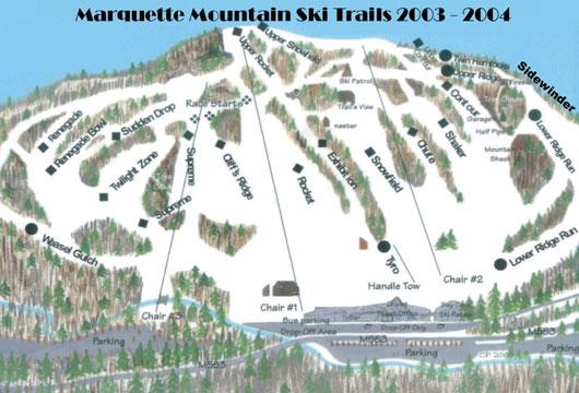 Marquette Mountain Ski Hill