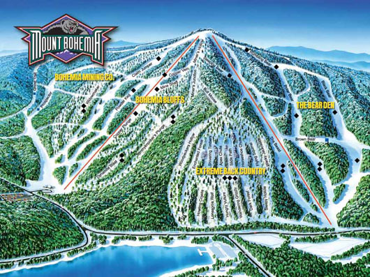 Bigrock Mountain Ski Area in Mars Hill, ME offers the highest vertical of any ski area in northern Maine or the Canadian Maritimes.